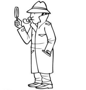 malvorlage-detektiv